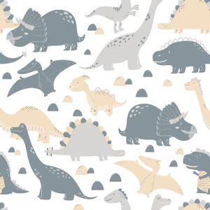 Papel-de-Parede-Dinossauro-Cinza-e-Bege