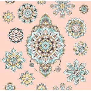 Papel-de-Parede-Mandala-Rosa