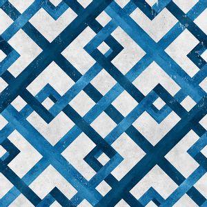 Papel-de-Parede-Geometrico-Azul-e-Cinza
